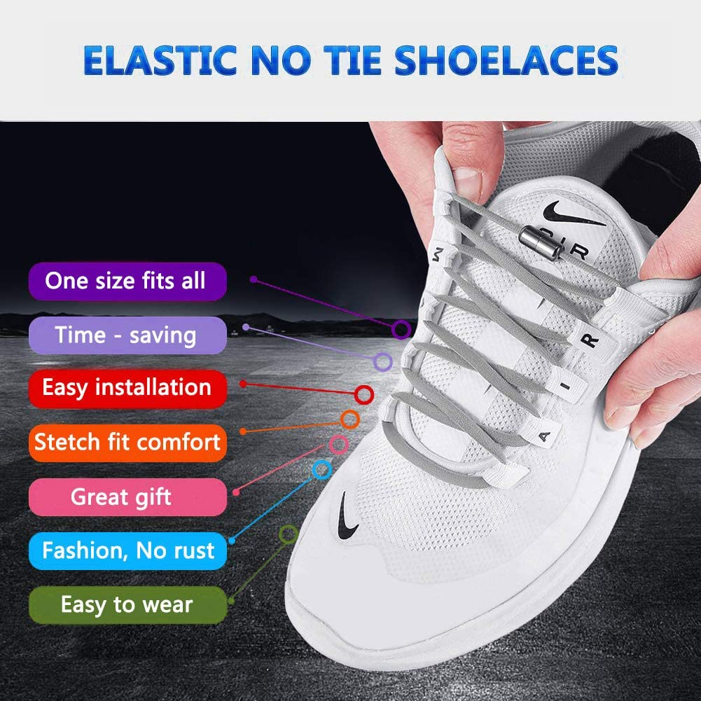 No Tie Elastic Shoelaces for Kids, Adults and Elderly