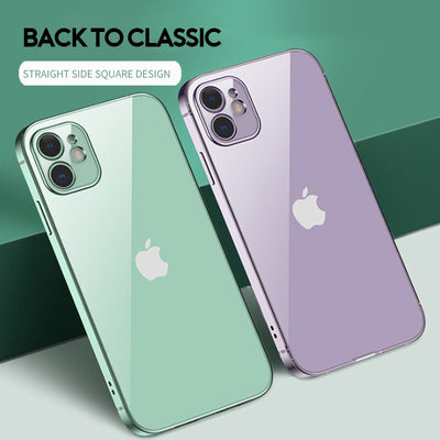 New Square Plating Soft Case For iPhone