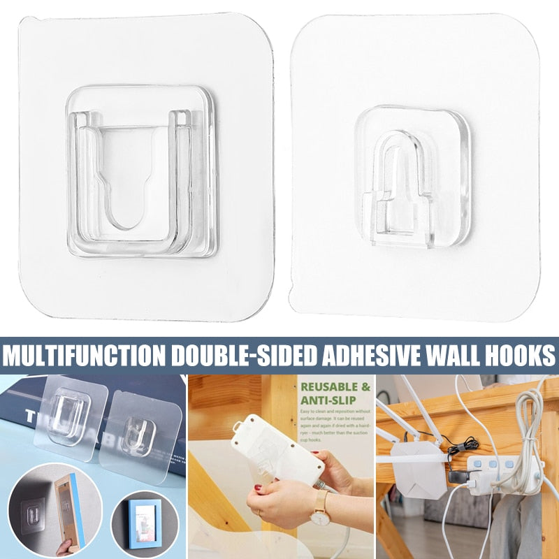 Double-Sided Adhesive Wall Hooks Wall Hanger