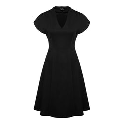 "Robe princesse à encolure en ""V' noir"