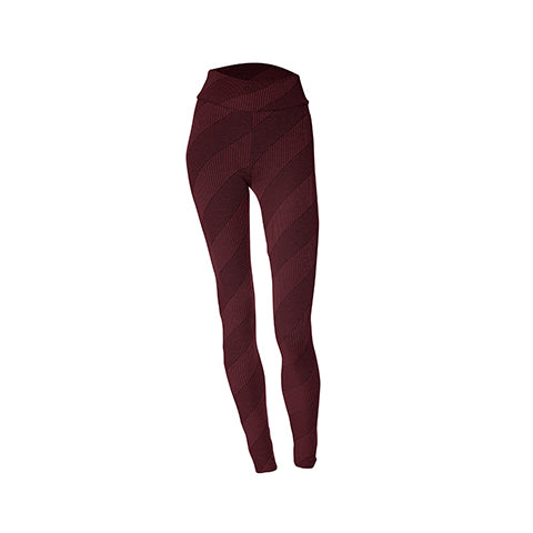 Pantalon long aubergine