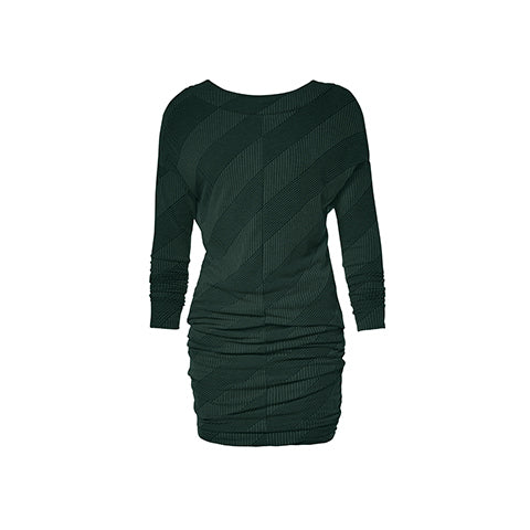 Robe reversible à encolure V ou ronde verte