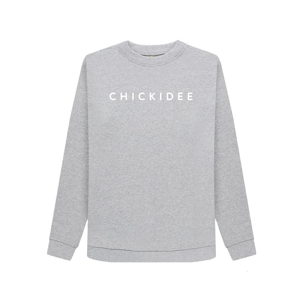 Grey Organic Cotton Chickidee Sweatshirt - Large