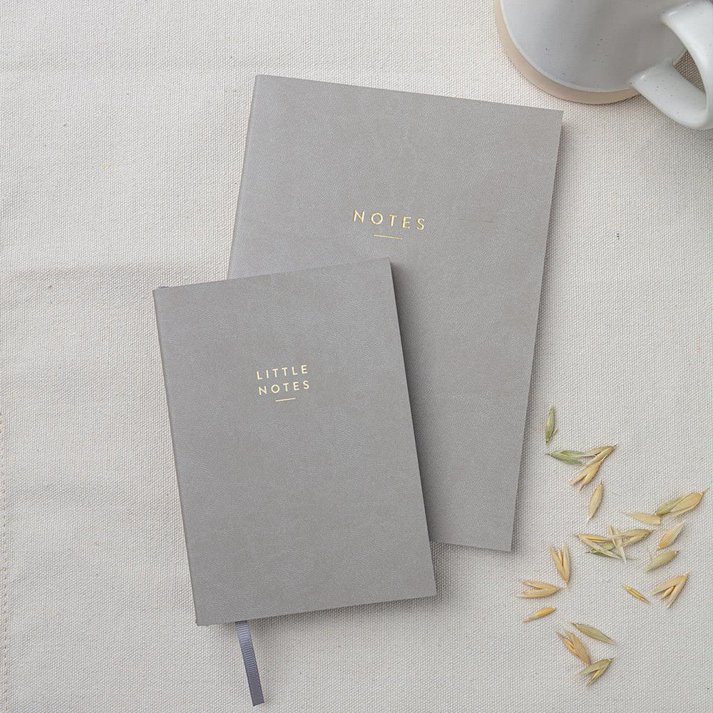A6 Grey 'Little Notes' Notebook
