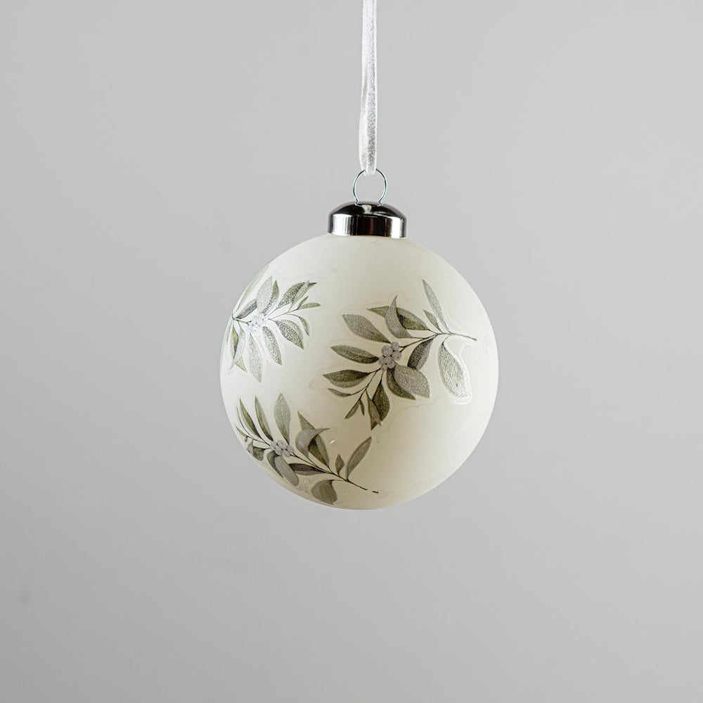 Bauble White With Branches White