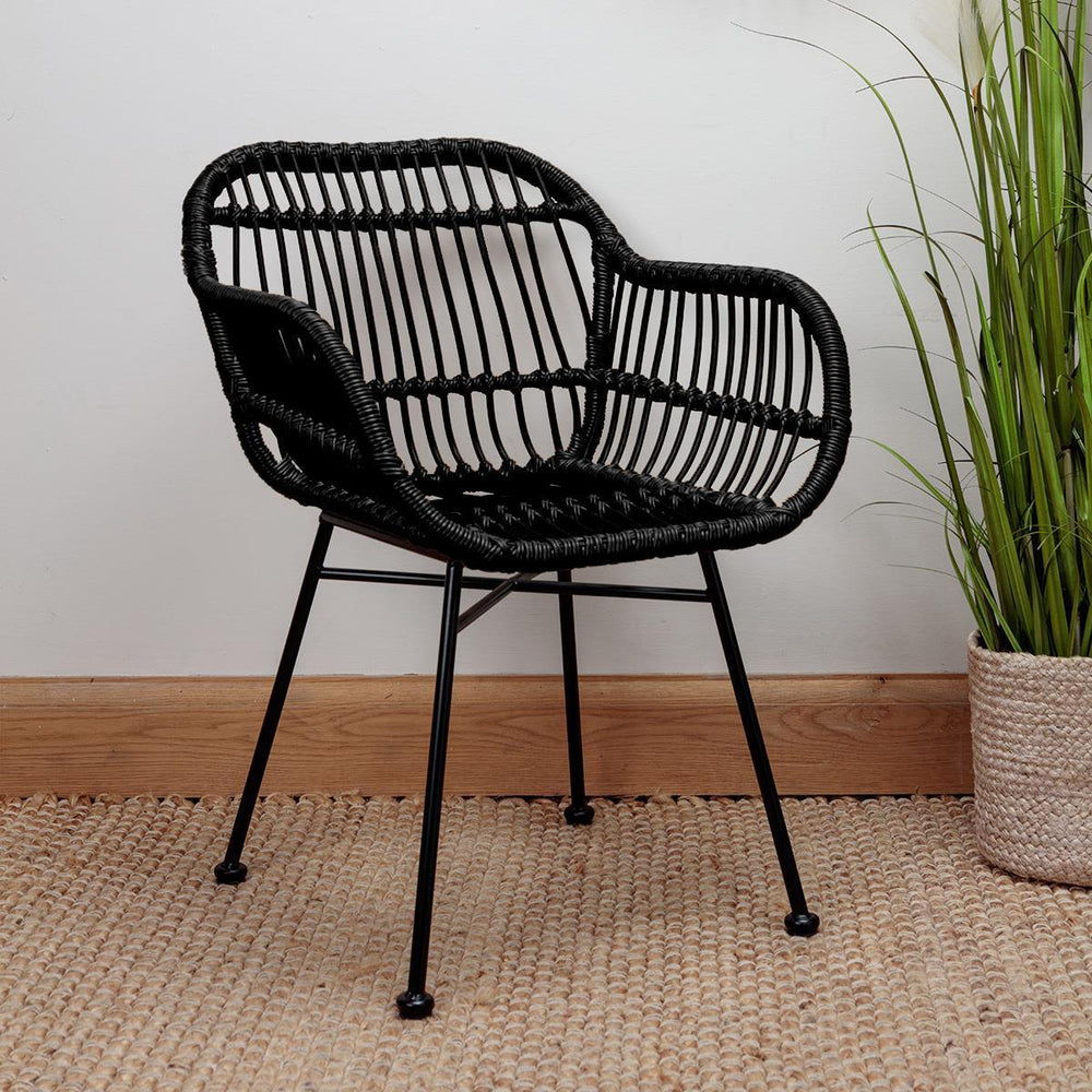 Arlo Black Tub Chair