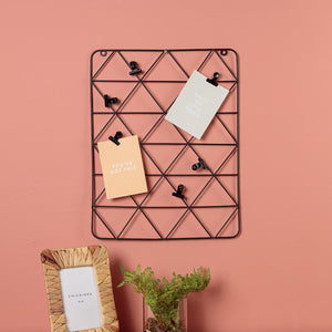 Black Wire Wall Grid With Clips