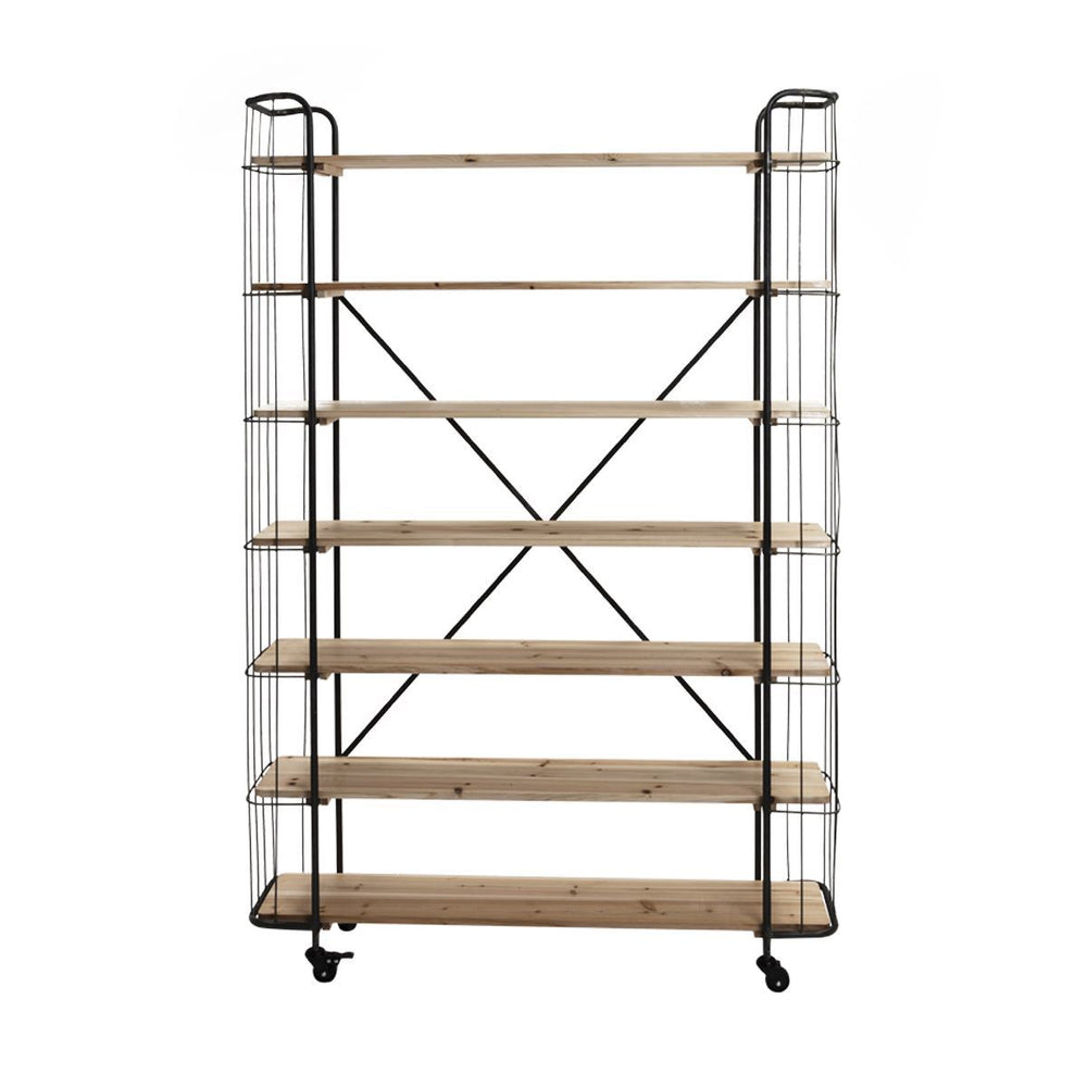 Large Black Industrial Shelving Unit
