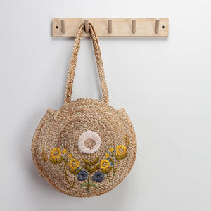 Lissa Embroidered Shopper - Yellow