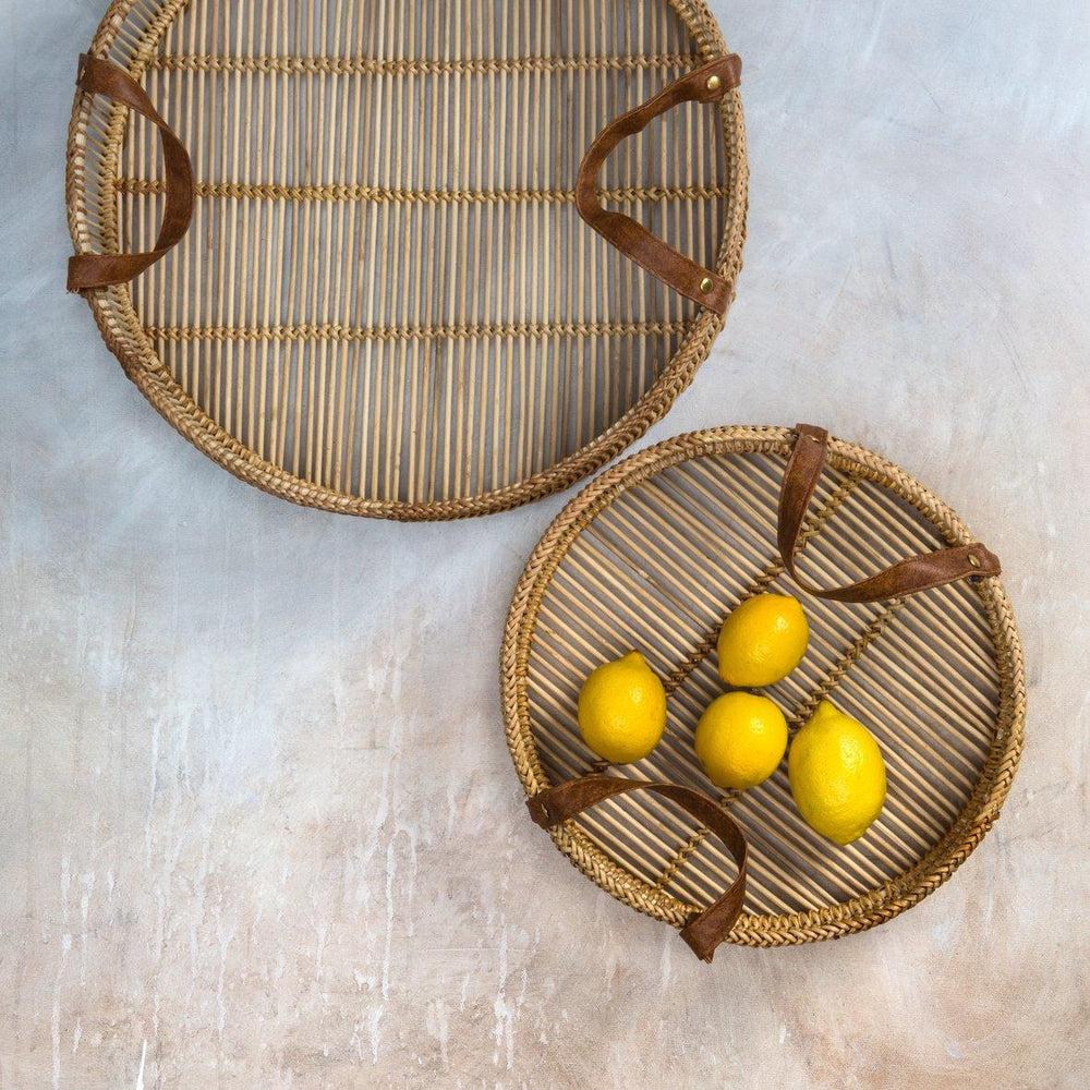 Zulu Bamboo Trays (Set of 2) Natural