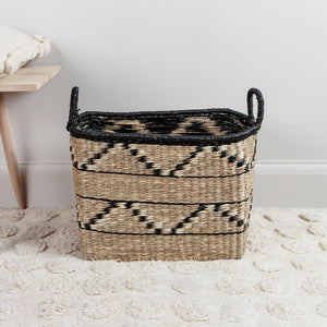 Abayomi Rectangular Zig Zag Basket Medium