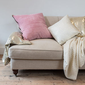 Light Gold Diamond Patterned Cushion