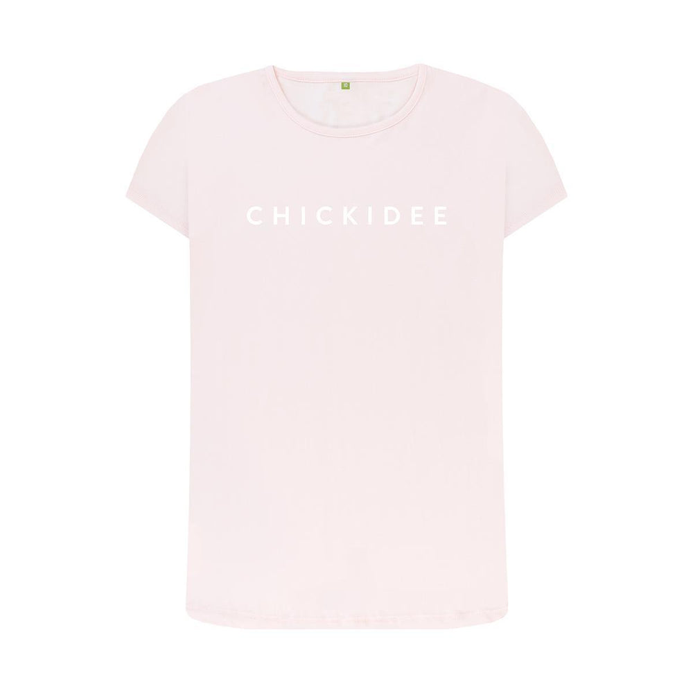 Pink Organic Chickidee Crew T-Shirt - Medium