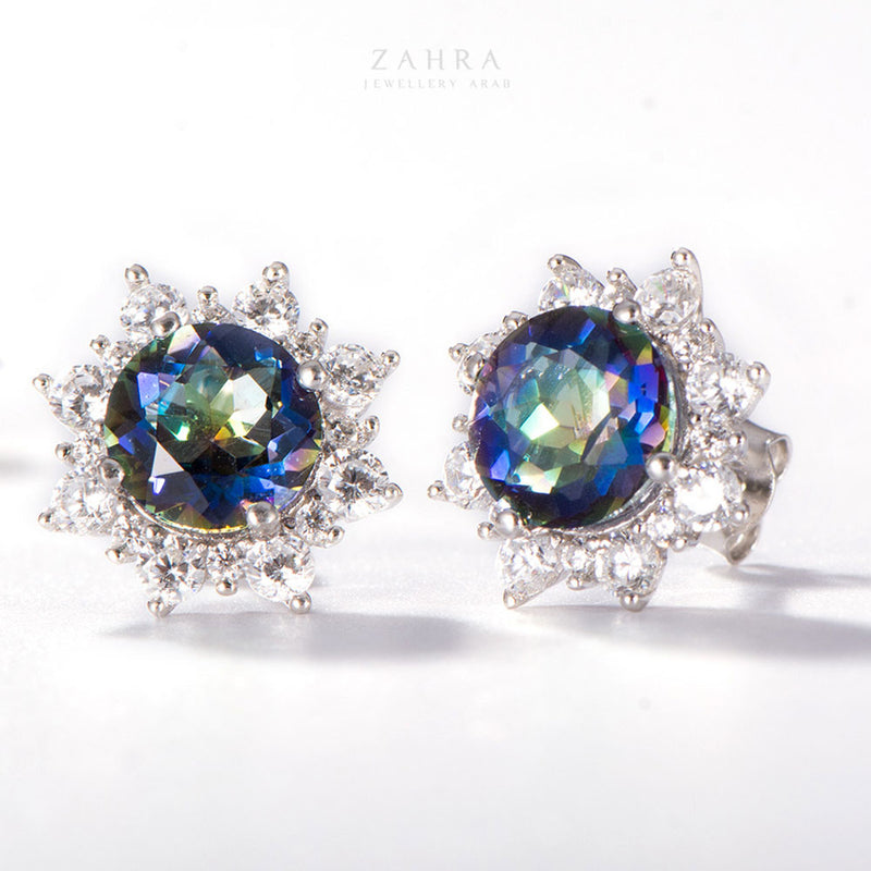 QUARTZ EARRINGS - MYSTERY /  لغز