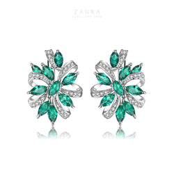 EMERALD EARRINGS - LUXURIANT / أفنان