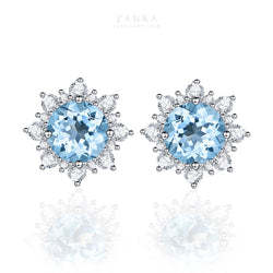 TOPAZ EARRINGS - SNOW / ثلج