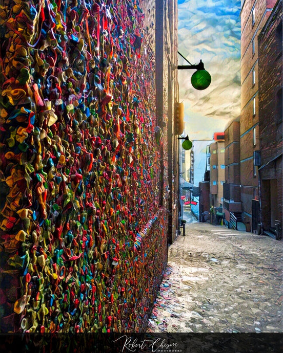 Gum Wall - Seattle, WA.