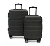 Side Kick - Topaz 2PC Luggage Set - Charcoal (Free Shipping)