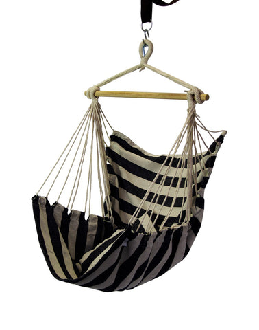 Finery - Hammock Scoop Chair - Black/White Stripe (Free Shipping)