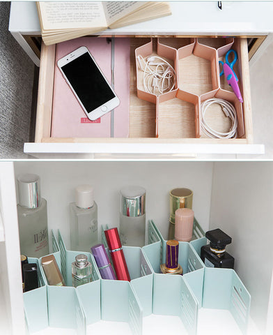 Fine Living Honeycomb Draw Organiser - Pink (Free Shipping)