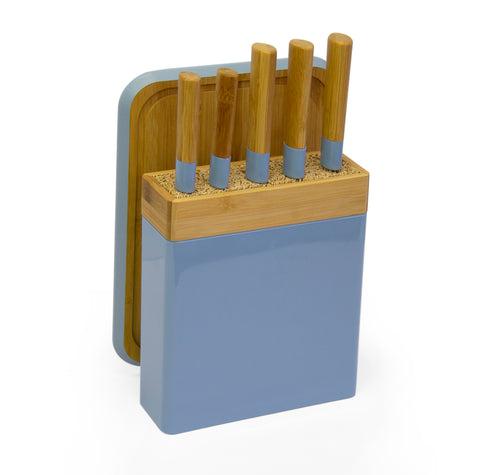 Knife Block Set - Blue (Free Shipping)