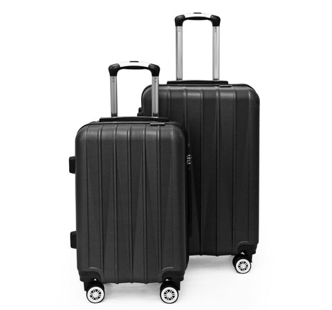SideKick - Tanzanite 2pc Luggage Set - Black (Free Shipping)