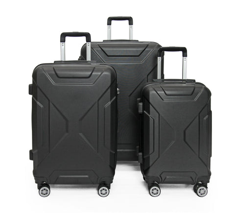 SideKick - Sapphire 3pc Luggage Set - Black (Free Shipping)
