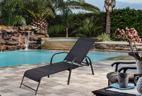 Pool Recliner - Black (Free Shipping)