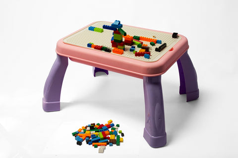 Jeronimo - 2-in-1 Drawing & Building Table - Purple (Free Shipping)