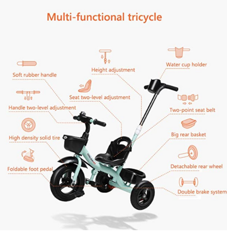Geo Kids Tricycle (Free Shipping)