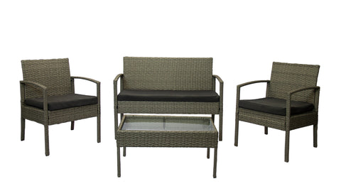 Rattan Miami  - 4pc Marbled Grey (Free Shipping)