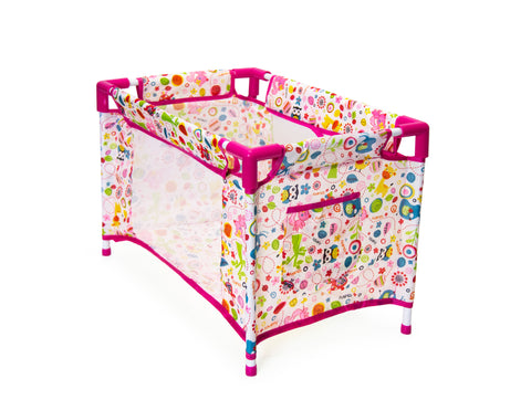 Jeronimo Doll Camp Cot-Pink Animals (Free Shipping)