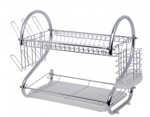 Fine Living Double Layer Dish Rack - Chrome (Free Shipping)
