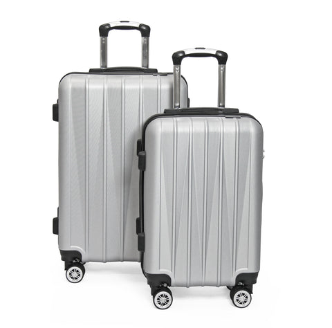 SideKick - Tanzanite 2pc Luggage Set - Silver (Free Shipping)