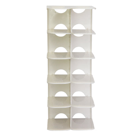 Pillar 6 Layer Shoe Rack - White (Free Shipping)