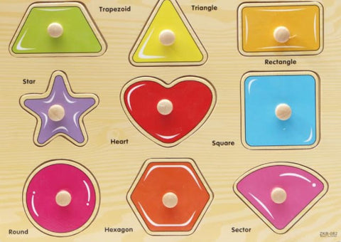 Nuovo Transport and Shapes Peg Puzzles (Free Shipping)