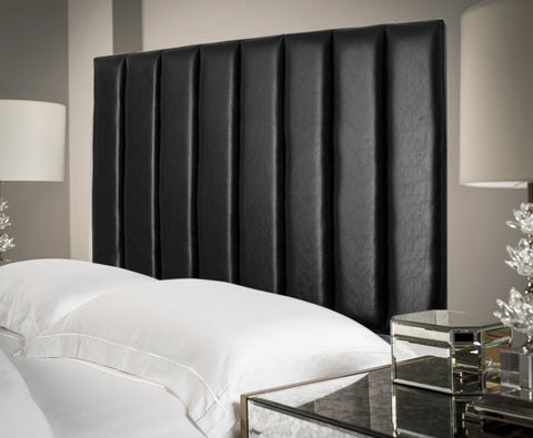 Fine Living - Bennedict Headboard Queen - Black PU (Free Shipping)