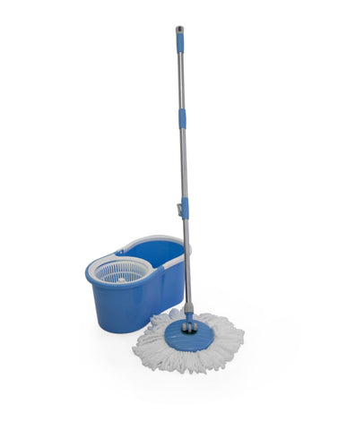 Fine Living-Spin Mop - Figure 8 - Blue,with plastic (Free Shipping)