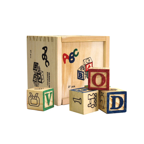 Toy - Wooden ABC Blocks (Free Shipping)