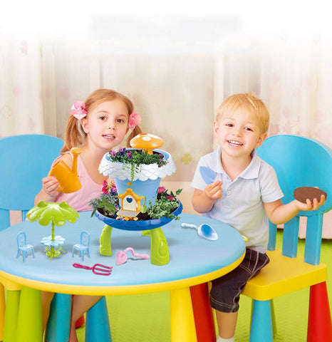Jeronimo - DIY Garden house play set -Blue with li (Free Shipping)