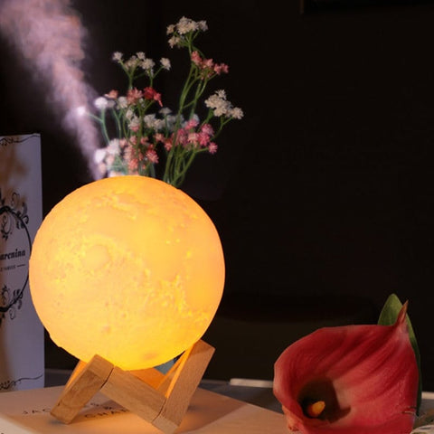 Humidifier 3D Moon Lamp (Free Shipping)