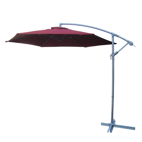 Umbrella - Cantilever 3m - Burgundy (Free Shipping)