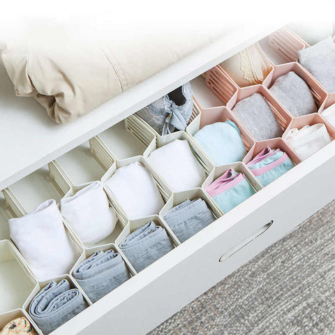 Fine Living Honeycomb Draw Organiser - White (Free Shipping)