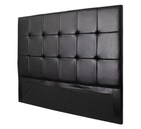 Fine Living - Burkley Headboard King - Black PU (Free Shipping)