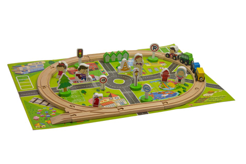 Jeronimo - Wooden Train Set - Steeples - 36pcs (Free Shipping)