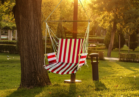 Fine Living - Hammock Chair - Red/White Stripe (Free Shipping)