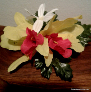Flower Hair Clip,Silk Hair Flowers,[Easy Breezy Clothing].