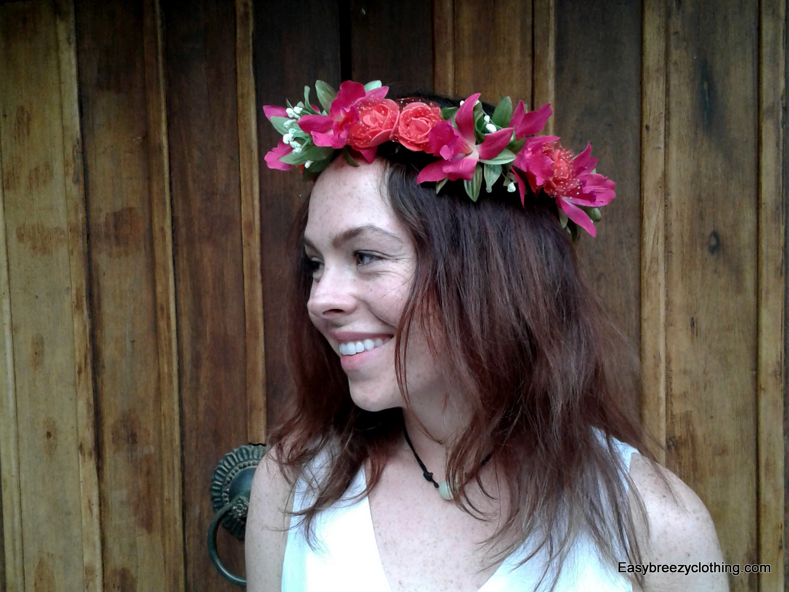 Flower Headband,Silk Hair Flowers,[Easy Breezy Clothing]