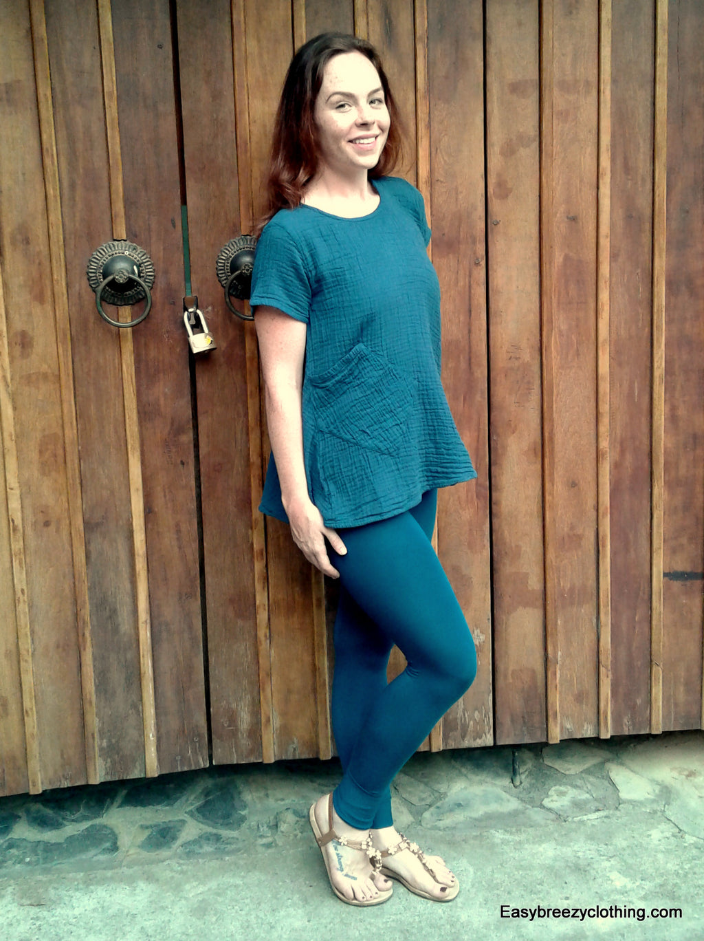 Double Gauze Bias Cut Top with Short Sleeves,Double Gauze Tops,[Easy Breezy Clothing]