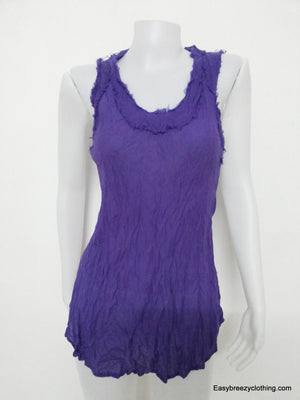 Womens Loose Fit Tank Top,Cotton Sleeveless Tops,Easy Breezy Clothing,[Easy Breezy Clothing]